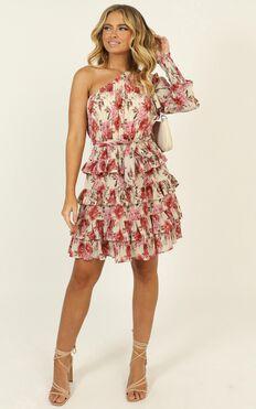 Mckenzie Mini Dress In Rose Floral
