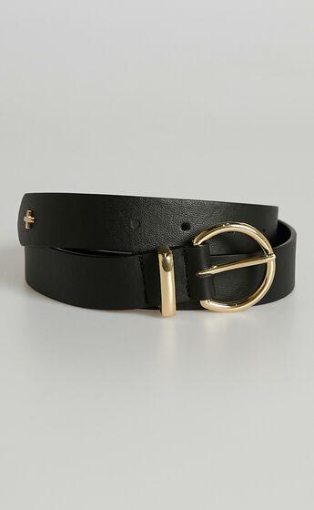 Peta and Jain - Kori Belt in Black Gold