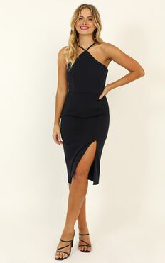 Missed The Point Dress In Navy