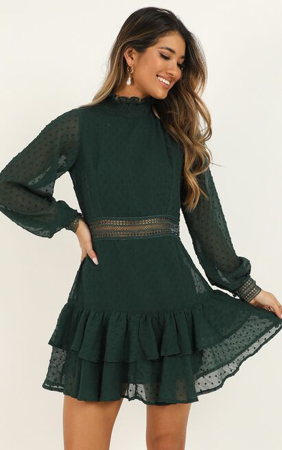 Are You Gonna Kiss Me Dress in emerald - 20 (XXXXL), Green, hi-res image number null
