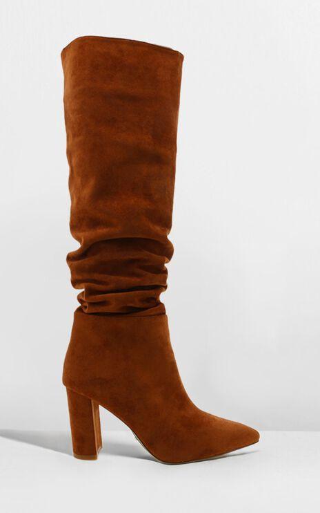 Billini - Willow Boots In Chestnut Micro
