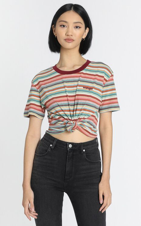 Wrangler - Legacy Tee in Dawn Stripe