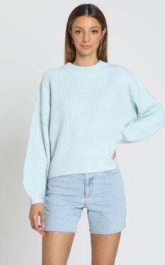 Cesca Knit Jumper in Pastel Blue
