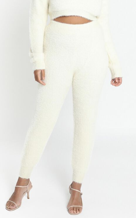 Carey Knit Pants in Cream