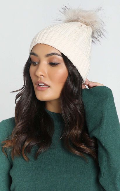 Style Mode Beanie In Beige, , hi-res image number null