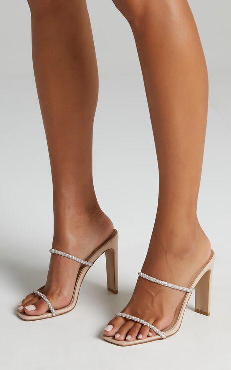 Billini - Yola Heels in Nude Sparkle