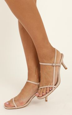 Billini - Wynne Heels In Blush Snake