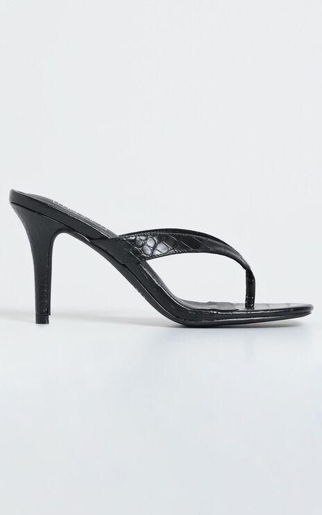 Therapy - Mira Heels in Black Croc