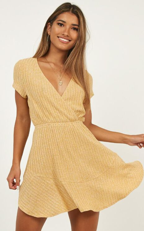 Sweet Feeling Dress In Mustard