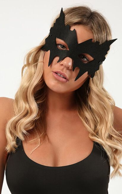 Cat Fight mask in black, , hi-res image number null
