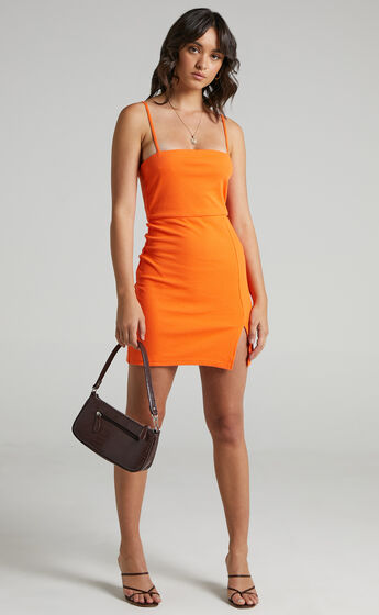 Island Babe Mini Dress in Orange