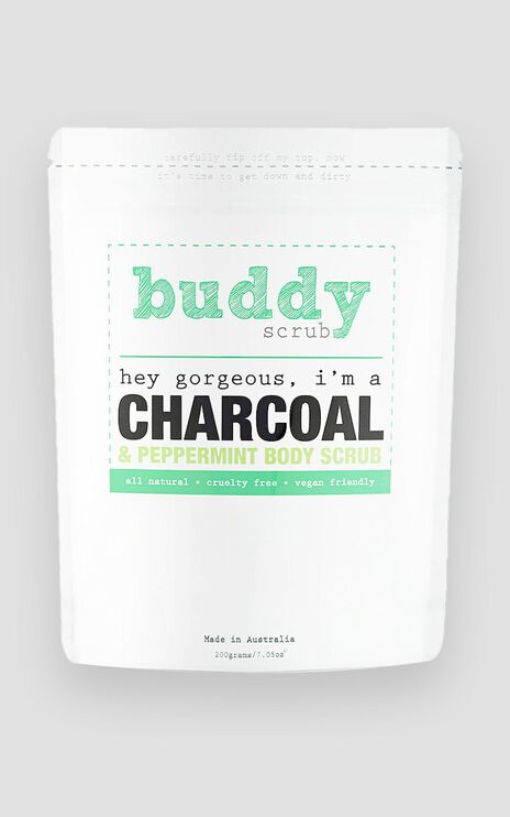 Buddy Scrub - Activated Charcoal & Peppermint Body Scrub