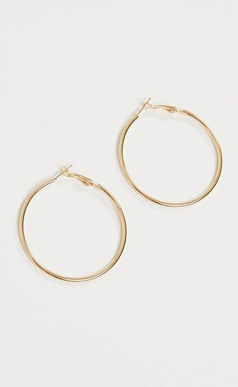 Dont Know When 50mm hoop earrings in Gold
