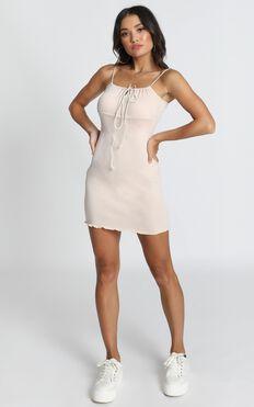 All I Need Dress In Beige