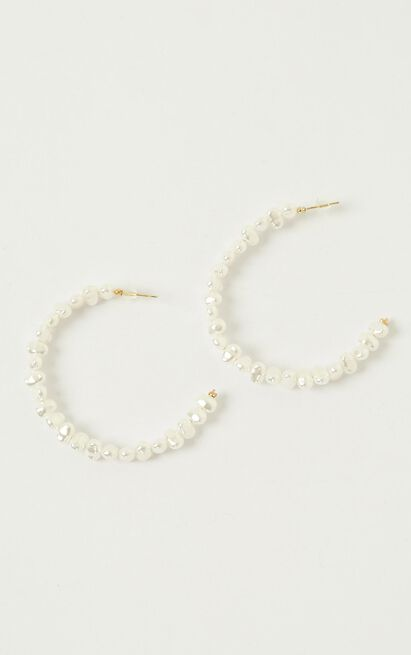 Back Up Earrings In Pearl, , hi-res image number null