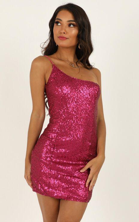 Speak Life To Me Dress In Pink Sequin