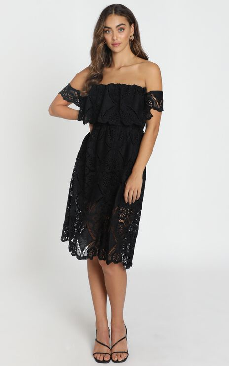 Get Ready Dress In Black Lace