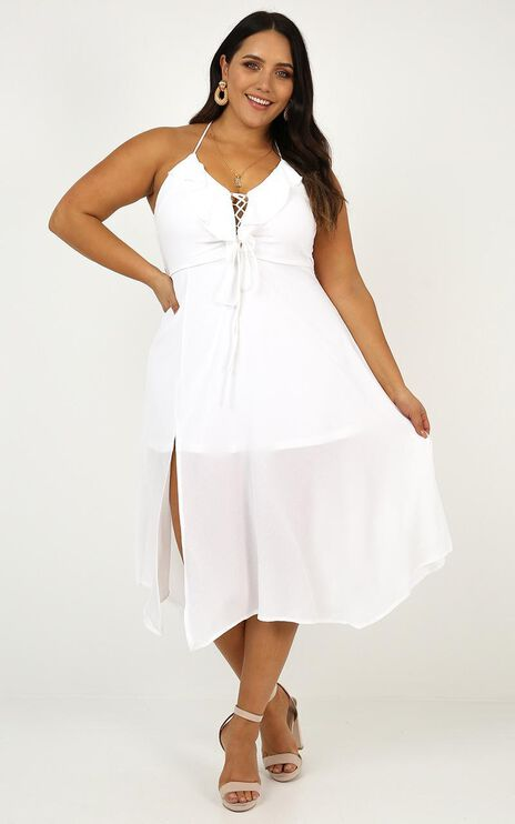 Think Quick Dress In White