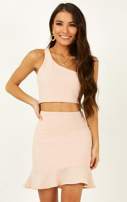 Throw Your Hands Up two piece set in blush - 8 (S), Blush, hi-res image number null