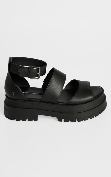 Windsor Smith - Thrilled Sandals in Black Leather