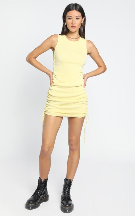 Lioness - Military Minds dress in Mellow Yellow