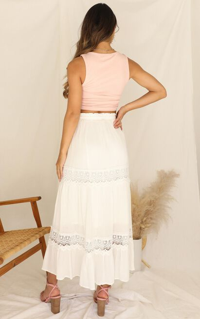 Twisted Sky Skirt In White - 16 (XXL), White, hi-res image number null