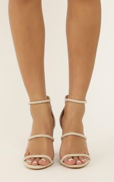 Billini - Marlie Heels In Natural Linen Look