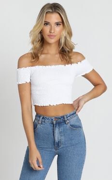 Dancing Fields Top In White