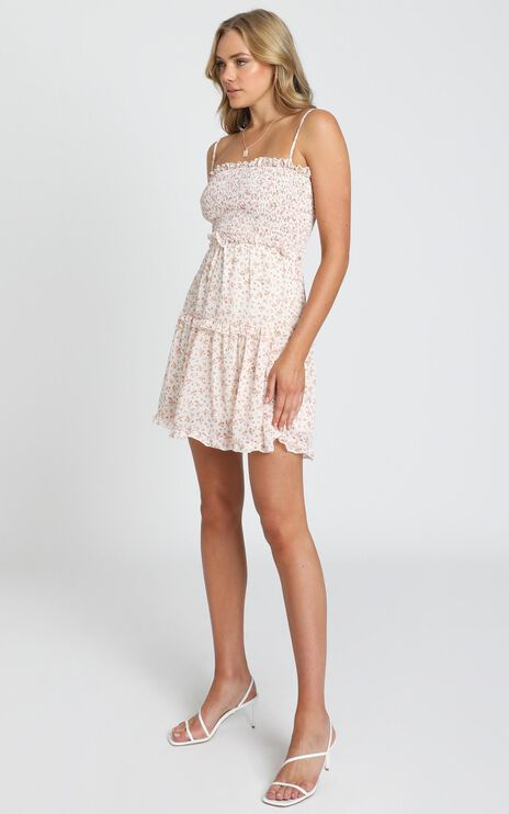 Selling Me Sympathy Dress in Cream Floral