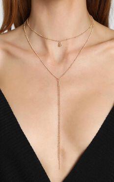 Estella Drop Necklace in Gold