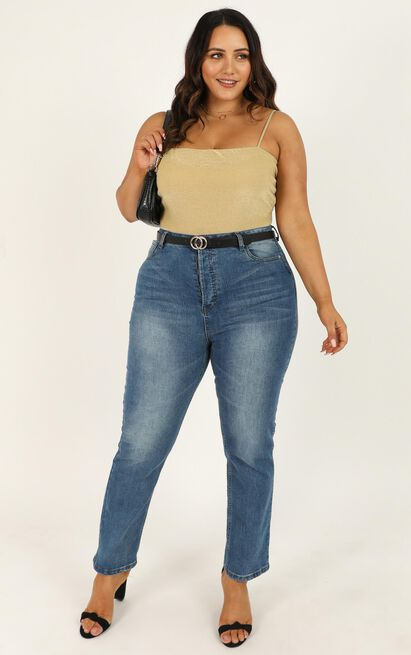 Stop Starring Bodysuit in gold lurex - 20 (XXXXL), Gold, hi-res image number null
