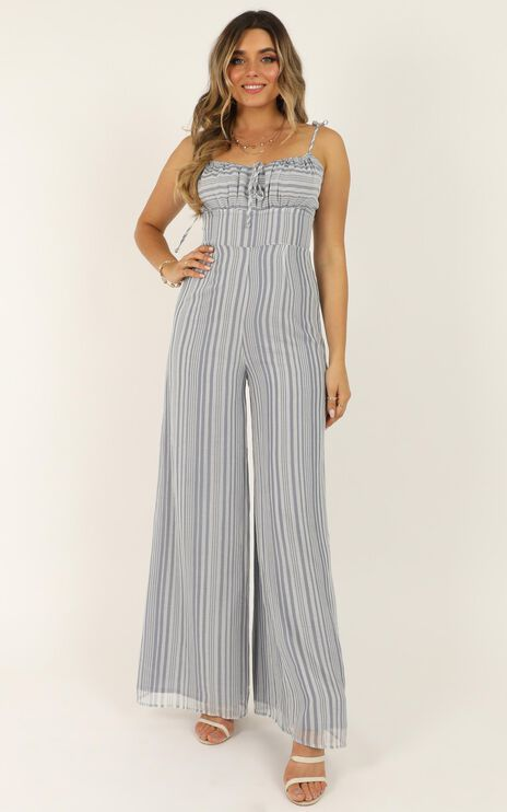 Hopscotch Jumpsuit In Blue Stripe