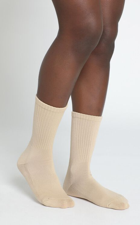AS Colour - Relax Socks in Tan (2 Pairs) - Sizes 4-8
