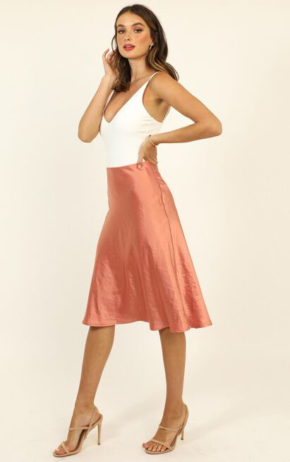 Business Proposal Skirt in rose satin - 20 (XXXXL), Pink, hi-res image number null