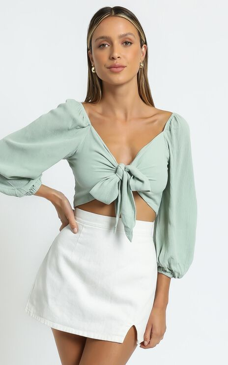 Morgane Top in Mint