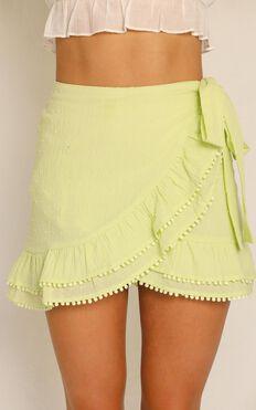 Practically Perfect Skirt In Citrus Linen Look