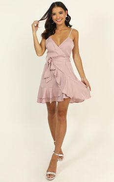 Just Kiss Me Dress In Blush Satin