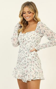 Still Believe Dress In White Floral
