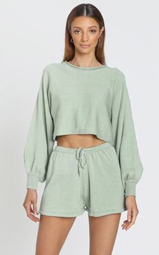 Hartley Knitted Jumper in Sage