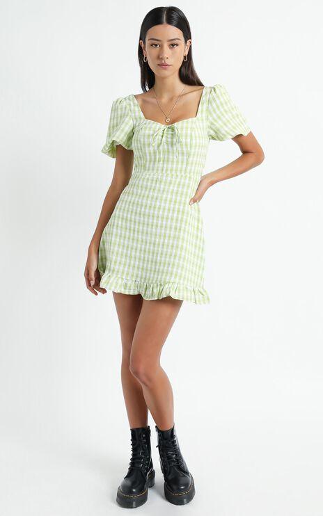 Fifi Dress in Green Check