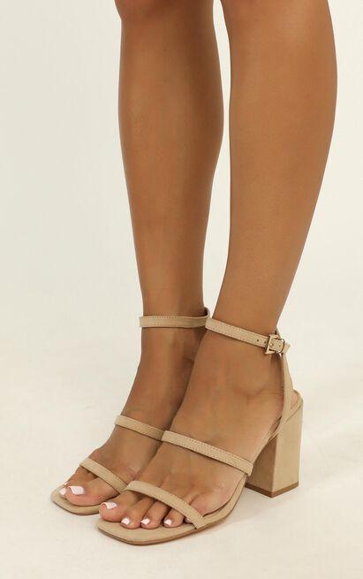 Verali - Georgia heels in natural micro - 10, Beige, hi-res image number null