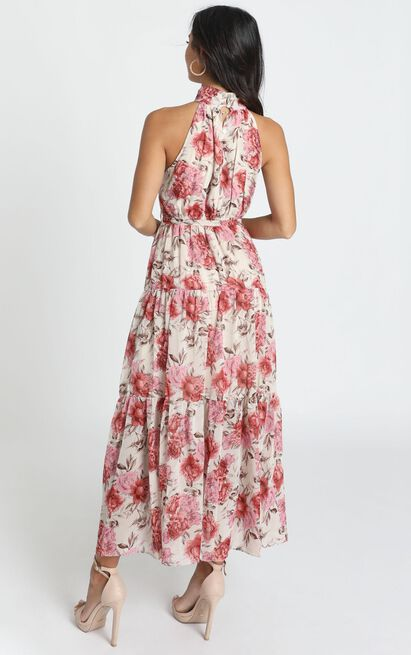 Cooling Power Maxi Dress in rose floral - 14 (XL), Pink, hi-res image number null