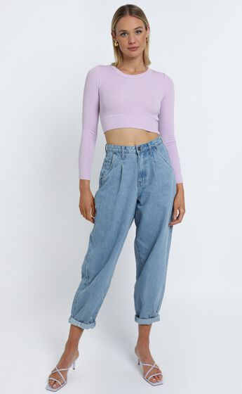Asher Top in Lilac