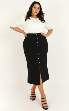 Number Cruncher Skirt In Black