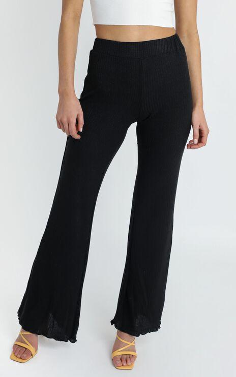 Carter Flare Pants in Black
