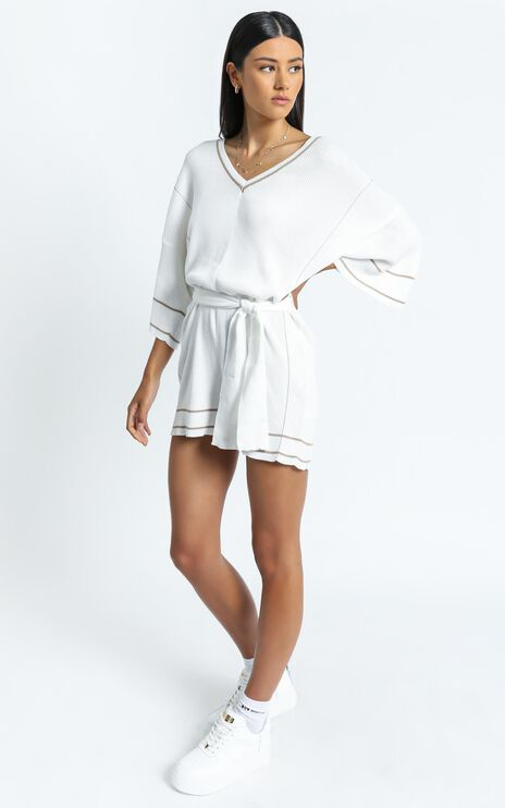 Verena Playsuit in Off White
