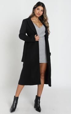 Green With Envy Coat In Black