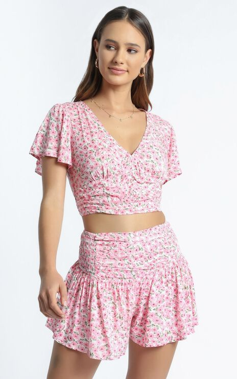 Candy Two Piece Set In Pink Floral