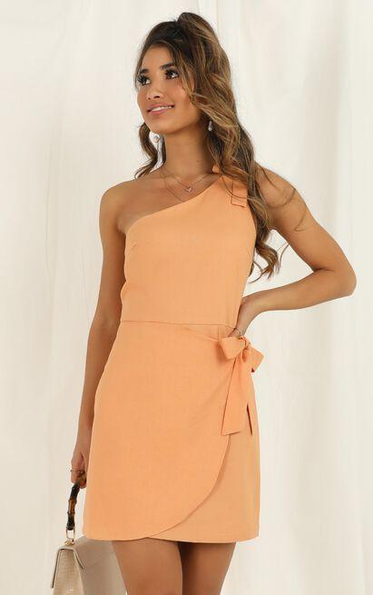 Keeping It Together dress in sherbet linen look - 20 (XXXXL), Orange, hi-res image number null