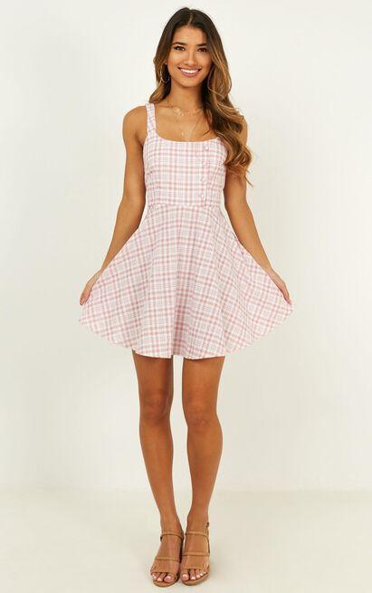 Pleasant Day Dress in blush plaid - 20 (XXXXL), Blush, hi-res image number null